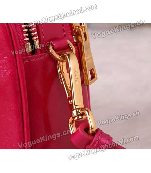 Prada BN1678 Oil Wax Leather Small Shoulder Bag Red-2