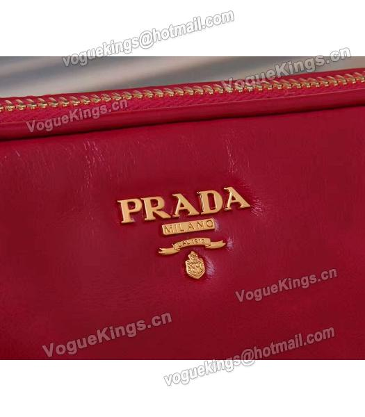 Prada BN1678 Oil Wax Leather Small Shoulder Bag Red-3