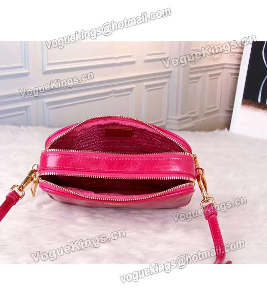 Prada BN1678 Oil Wax Leather Small Shoulder Bag Red-4