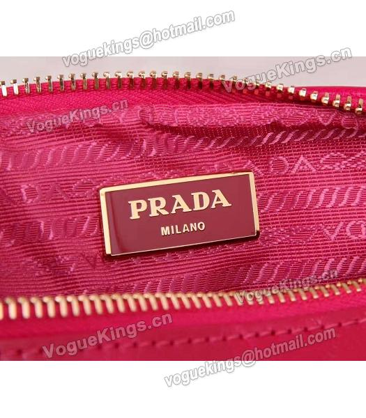 Prada BN1678 Oil Wax Leather Small Shoulder Bag Red-5