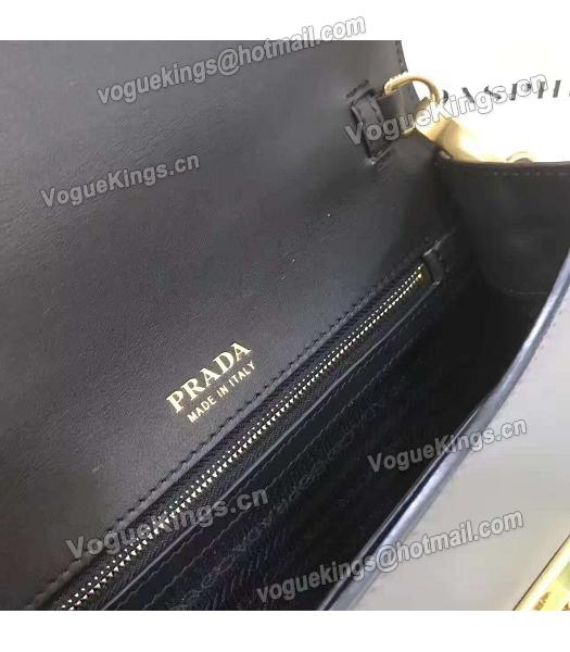 Prada 1BD068 Mixed Colors Original Leather Shoulder Bag Black-1