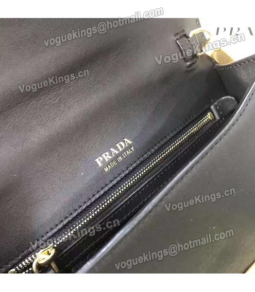 Prada 1BD068 Mixed Colors Original Leather Shoulder Bag Blue-1