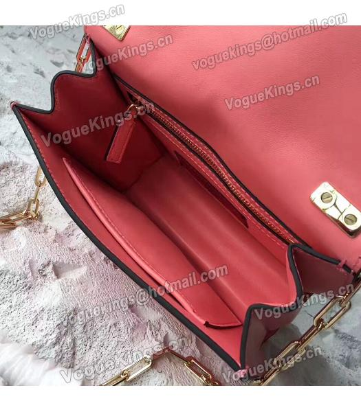 Valentino Watermelon Red Original Leather Chains Messenger Bag-5