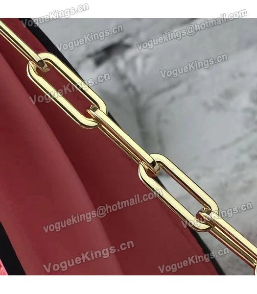 Valentino Watermelon Red Original Leather Chains Messenger Bag-6