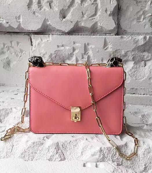 Valentino Watermelon Red Original Leather Chains Messenger Bag