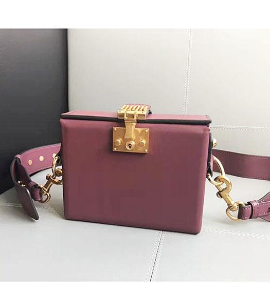 Christian Dior Jujube Red Original Leather Mini Crossbody Bag