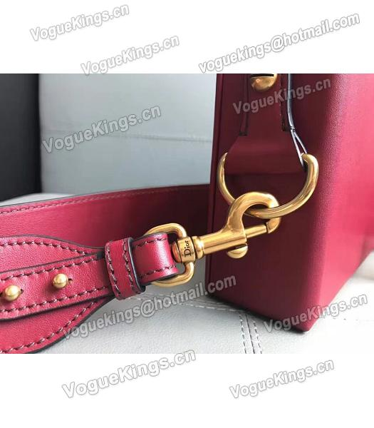 Christian Dior Red Original Leather Mini Crossbody Bag-3