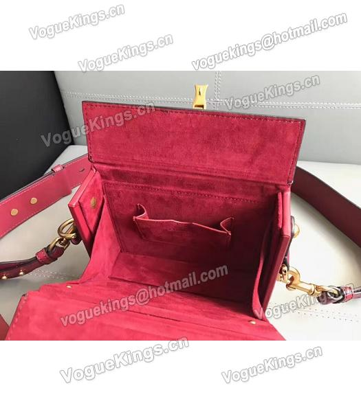 Christian Dior Red Original Leather Mini Crossbody Bag-4
