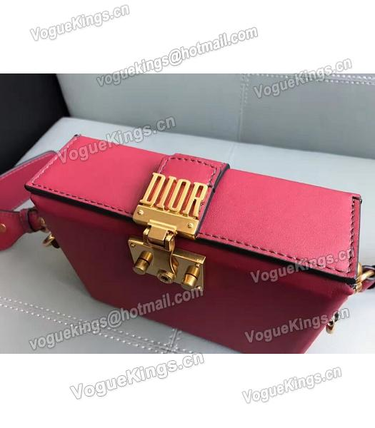 Christian Dior Red Original Leather Mini Crossbody Bag-5
