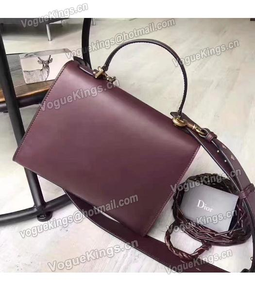 Christian Dior Jujube Red Original Leather Top Handal Bag-1