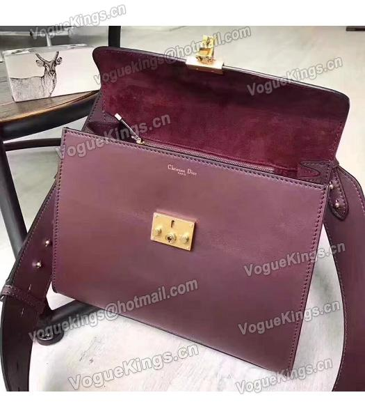 Christian Dior Jujube Red Original Leather Top Handal Bag-5