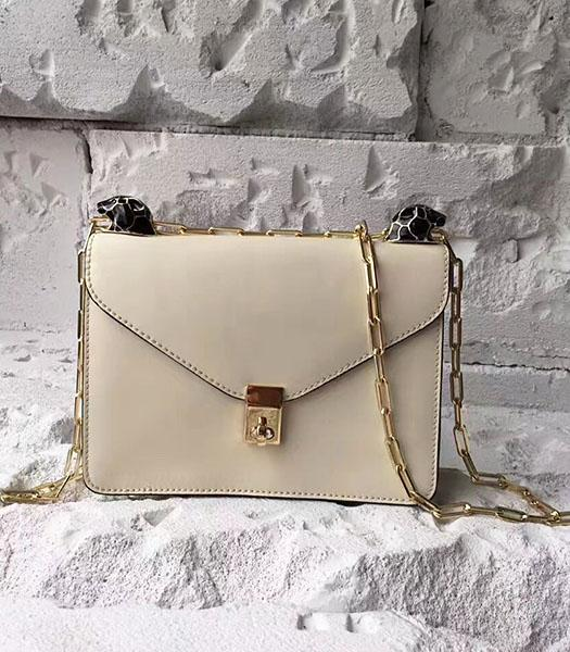 Valentino Offwhite Original Leather Chains Messenger Bag