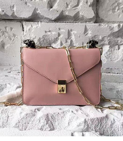 Valentino Pink Original Leather Chains Messenger Bag