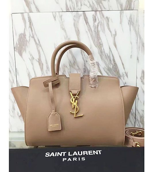 Yves Saint Laurent Apricot Calfskin Leather Top Handle Bag