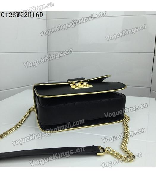 Michael Kors Black Leather Golden Chains Small Bag-1
