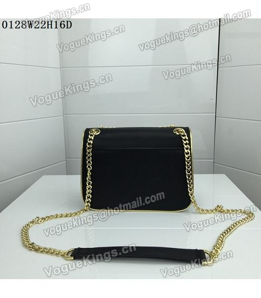 Michael Kors Black Leather Golden Chains Small Bag-2