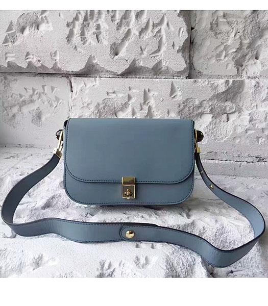 Valentino Light Blue Original Leather Small Shoulder Bag