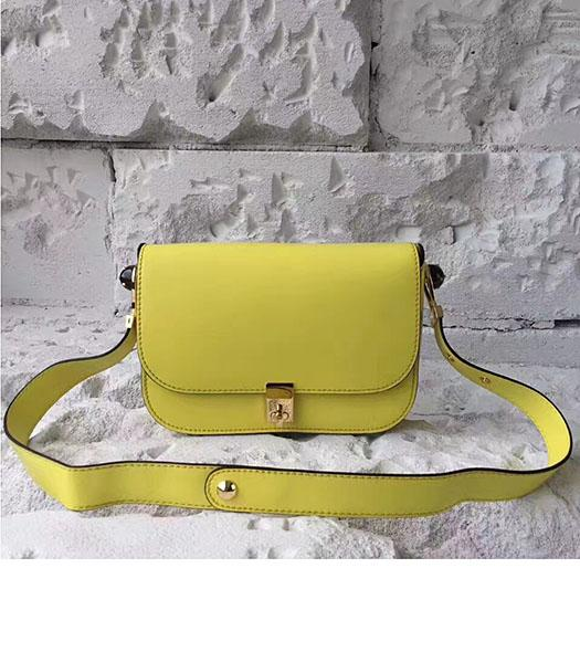 Valentino Yellow Original Leather Small Shoulder Bag