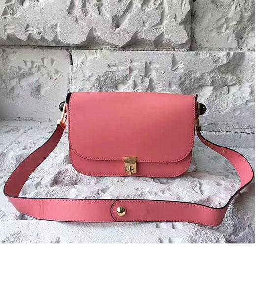 Valentino Dark Pink Original Leather Small Shoulder Bag