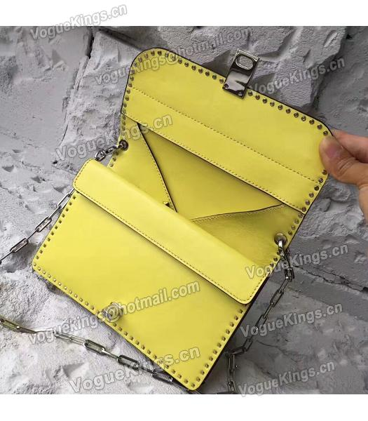 Valentino Yellow Original Leather Rivets Small Bag-1