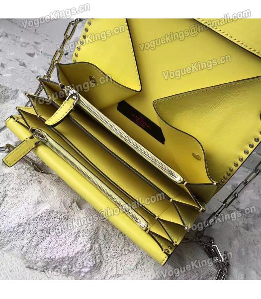 Valentino Yellow Original Leather Rivets Small Bag-2