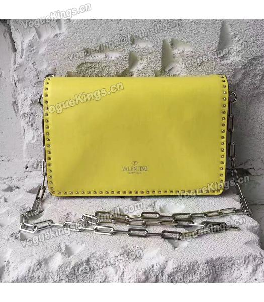 Valentino Yellow Original Leather Rivets Small Bag-4
