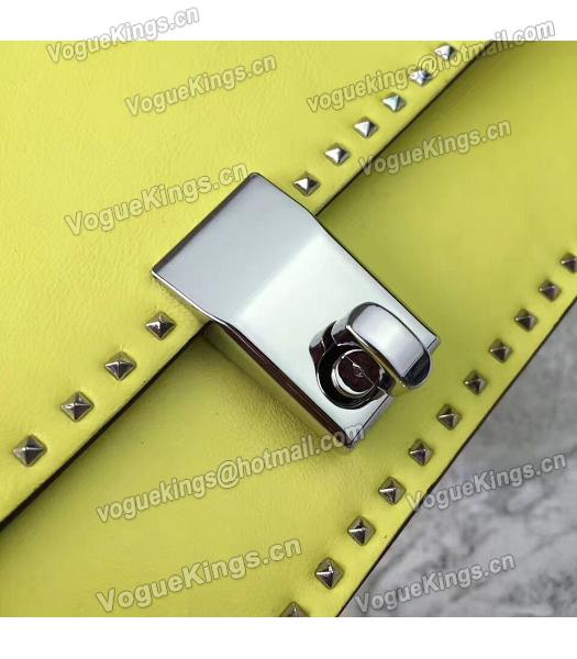 Valentino Yellow Original Leather Rivets Small Bag-6