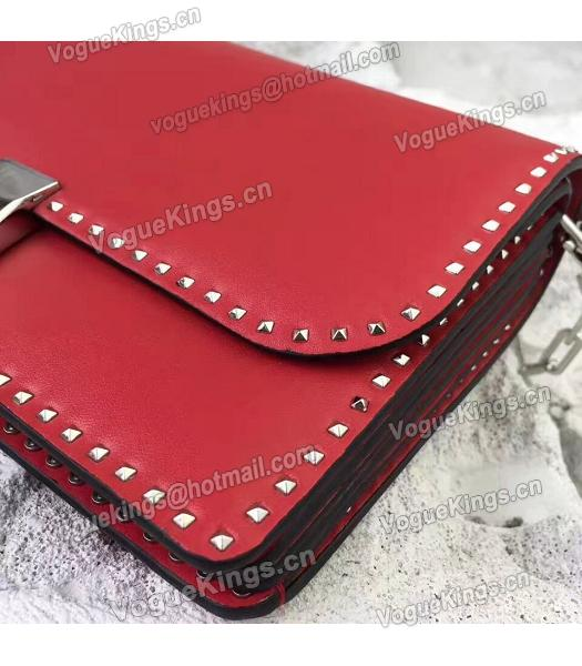 Valentino Red Original Leather Rivets Small Bag-1