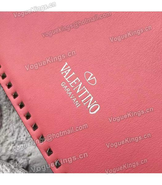 Valentino Dark Pink Original Leather Rivets Small Bag-1