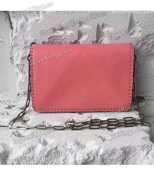 Valentino Dark Pink Original Leather Rivets Small Bag-4
