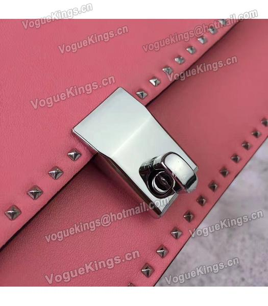 Valentino Dark Pink Original Leather Rivets Small Bag-5