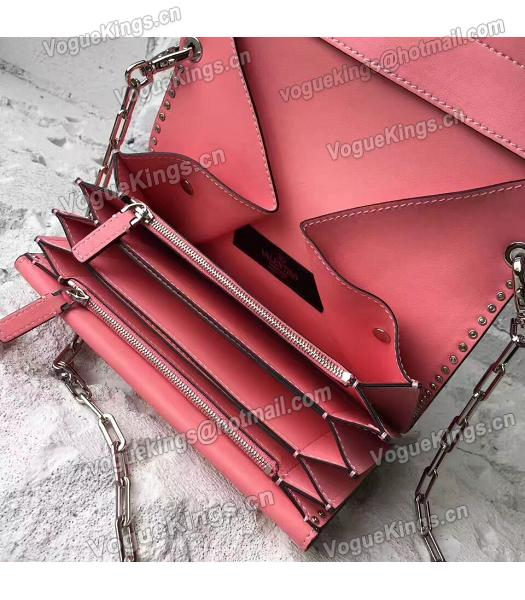 Valentino Dark Pink Original Leather Rivets Small Bag-6