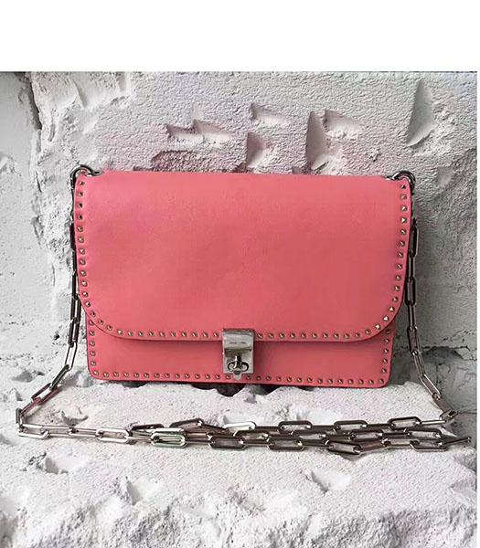 Valentino Dark Pink Original Leather Rivets Small Bag