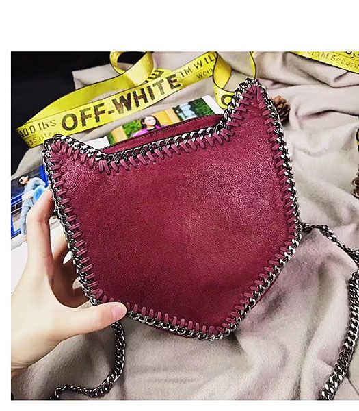 Stella McCartney Falabella Cat Crossbody Bag Wine Red