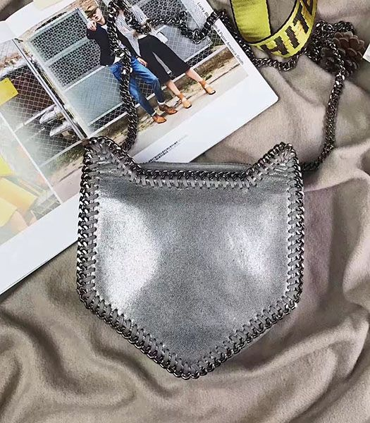 Stella McCartney Falabella Cat Crossbody Bag Silver