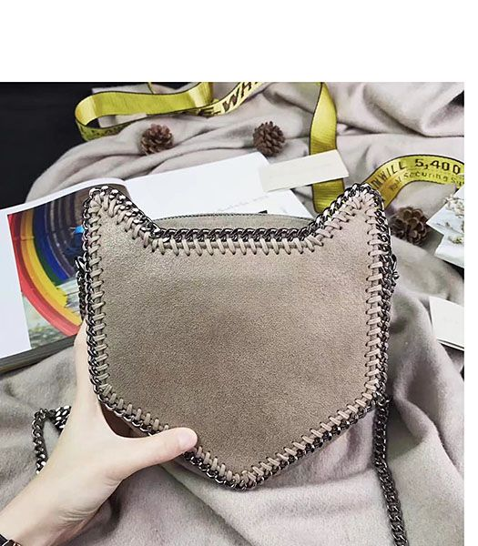 Stella McCartney Falabella Cat Crossbody Bag Khaki