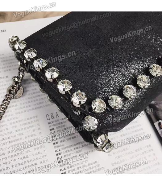 Stella McCartney Diamond Black 22cm Silver Chains Bag-1
