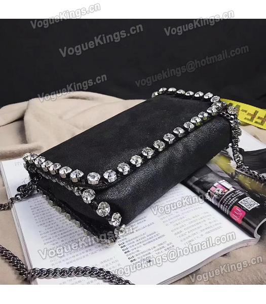 Stella McCartney Diamond Black 22cm Silver Chains Bag-6