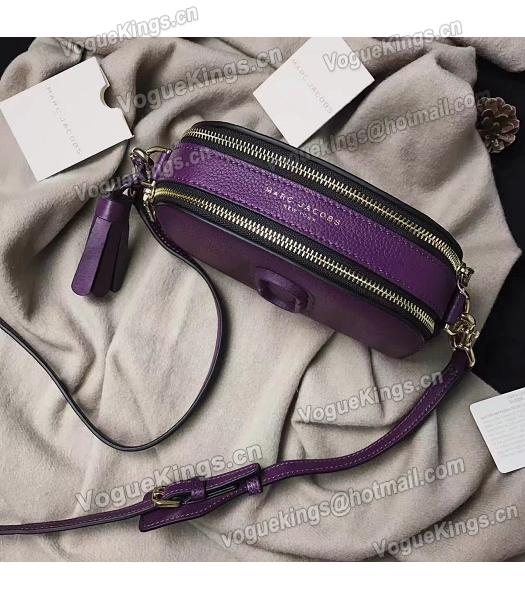 Marc Jacobs Shutter Purple Leather Tassel Small Camera Bag-2