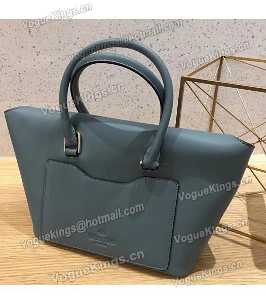 Valentino Demilune Blue Original Leather Small Tote Bag-1