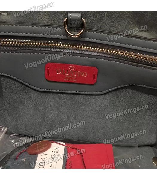 Valentino Demilune Blue Original Leather Small Tote Bag-3