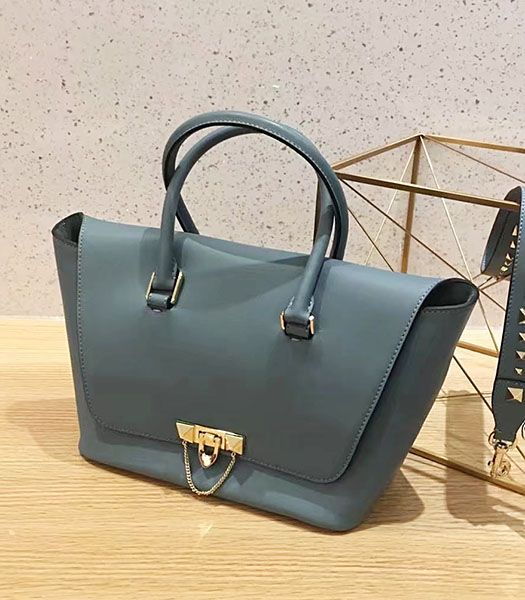 Valentino Demilune Blue Original Leather Small Tote Bag