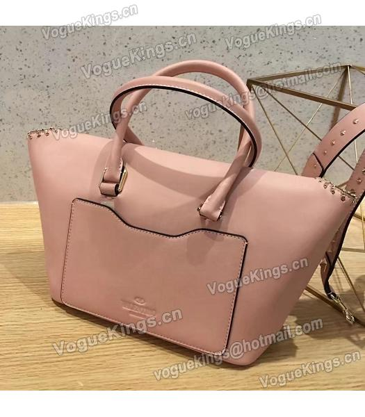 Valentino Demilune Small Double Handle Bag Pink Original Leather-2