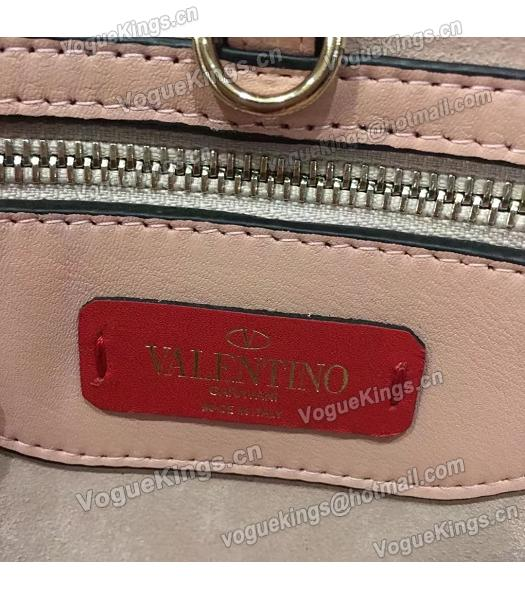Valentino Demilune Small Double Handle Bag Pink Original Leather-4