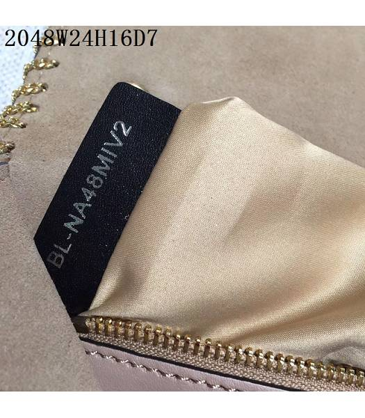 Valentino Original Leather Rivets Golden Chains Bag Nude Pink-6