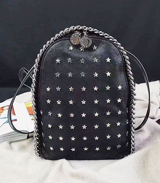 Stella McCartney Star Rivets Black Mini Backpack