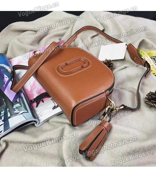 Marc Jacobs Shutter Brown Leather Tassel Small Camera Bag-4