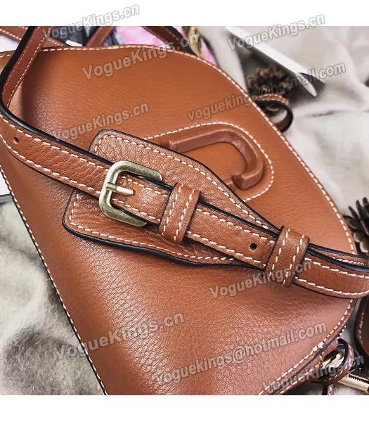 Marc Jacobs Shutter Brown Leather Tassel Small Camera Bag-6