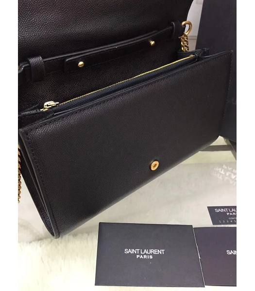 YSL Kate Monogram Black Caviar Leather Golden Chains Stars Rivets 22cm Gourmette Bag-6