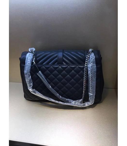 dedfbfe1b4 YSL Blue Matelasse Leather Silver Chains 24cm Envelope Shoulder Bag-1 ...